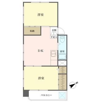 三田桜台第二コーポの間取図