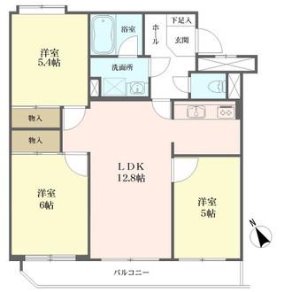 宮崎台南スカイマンションの間取図