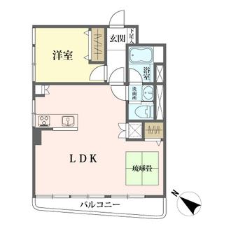 第18宮庭マンションの間取図