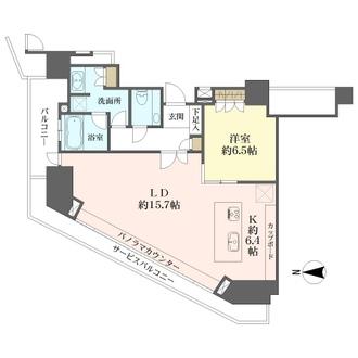 ジークレフ新神戸タワーの間取図