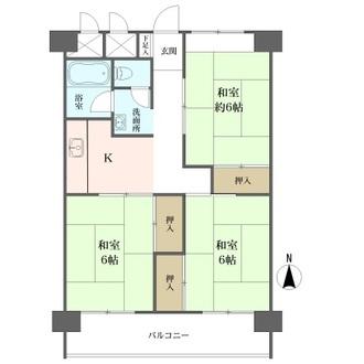 山科(A・B棟)住宅の間取図