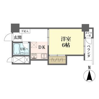 サンハイツ早稲田の間取図