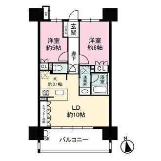 ファミリアーレ名駅マークレジデンスの間取図