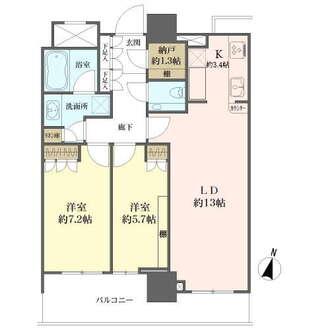 ブリリアタワー名古屋グランスイートの間取図