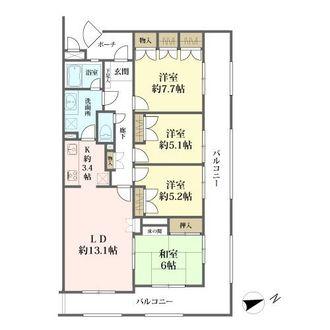 東建ニューハイツ金沢文庫の間取図