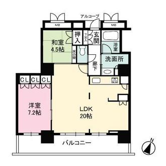 ローレルスクエア大阪ベイタワーの間取図