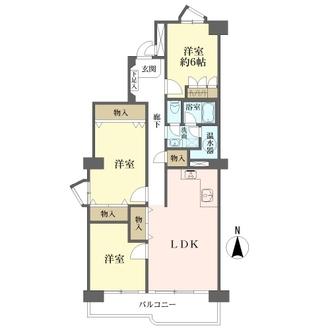 矢田川パークハウスの間取図