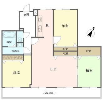 三井金山ハイツの間取図