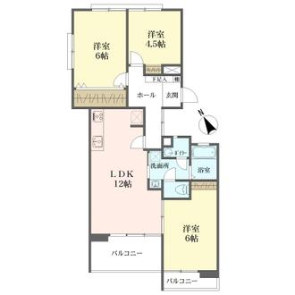 四観音住宅の間取図