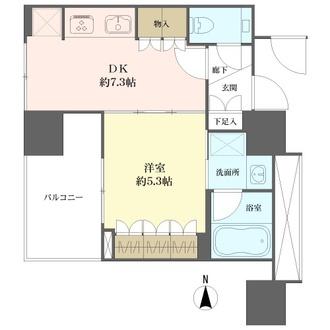 プラウドタワー覚王山の間取図