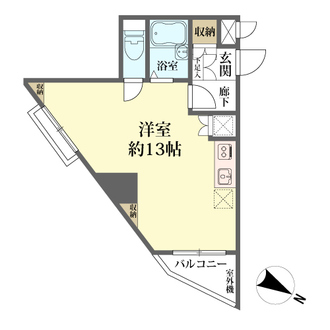 ユニーブル新宿西の間取図