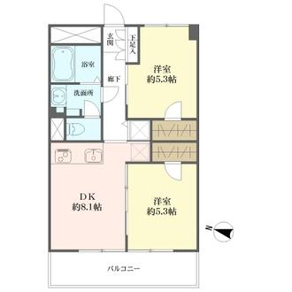 南青山サマリヤマンションの間取図