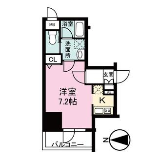 レジュールアッシュ大阪城WESTの間取図