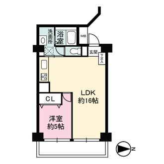 野田パークマンションの間取図