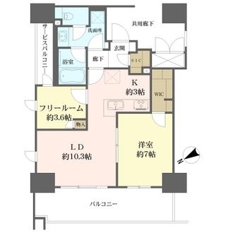 ユニハイム中之島堂島川タワーレジデンスの間取図
