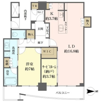 大阪ひびきの街ザ・サンクタスタワーの間取図