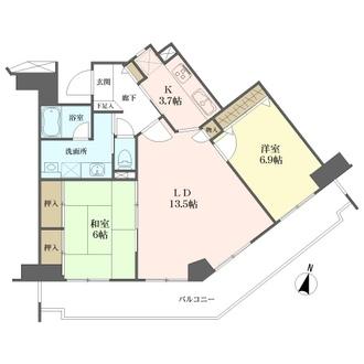 エステ・スクエアセンター北ウエストウイングの間取図