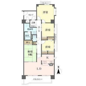 サンマンションアトレ御器所IIの間取図