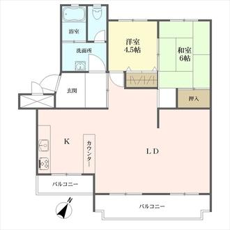 桃山住宅の間取図