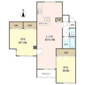 丸美タウンマンション亀城の間取図