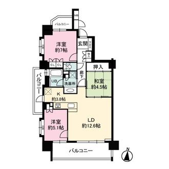 BELISTA茶屋ヶ坂駅西の間取図