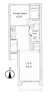 中野南台第一ローヤルコーポの間取図