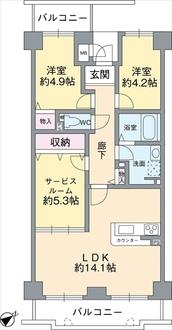 コスモ北野田の間取図