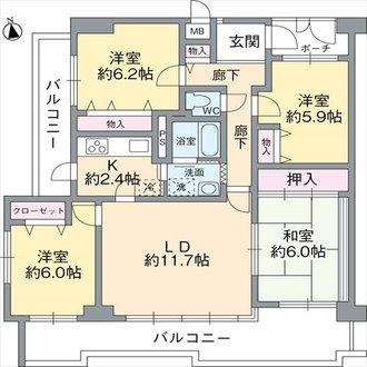 浅香山南グリーンハイツの間取図