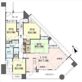 泉ヶ丘ガーデンハウス・エスタシオンの間取図