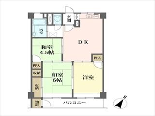 子安台共同ビルの間取図