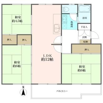 西三田住宅の間取図