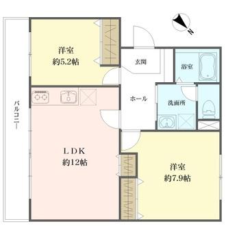 中野島住宅の間取図