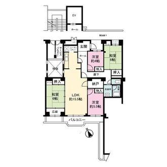 芦屋緑2住宅の間取図