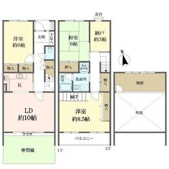 岡本テラスハウスの間取図