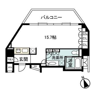 神宮前シティタワーの間取図