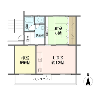 高洲三丁目住宅の間取図
