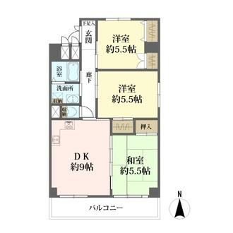 グリーンタウン茨木二番館の間取図