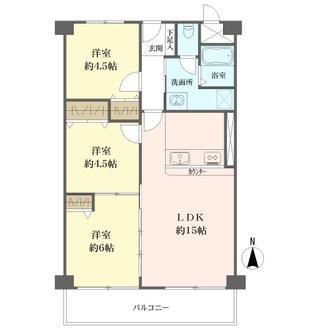 阪急南茨木ハイタウン東奈良高層住宅の間取図