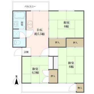 愛宕二丁目住宅の間取図