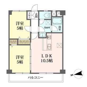 新宿コーポの間取図