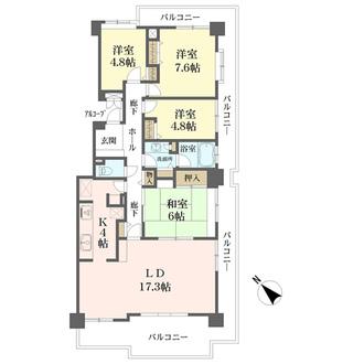 エステ・シティ湘南六浦2番館の間取図