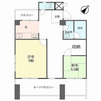 横浜ダイヤモンドマンションの間取図