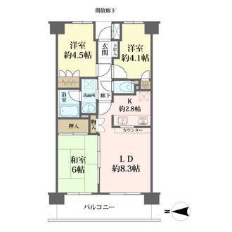 東戸塚パーク・ホームズ参番館の間取図