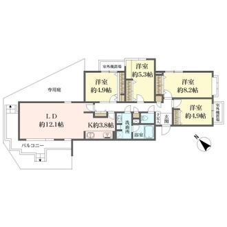 パーク・ハイム南軽井沢の間取図