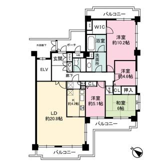 コスモ妙蓮寺セラージュの間取図