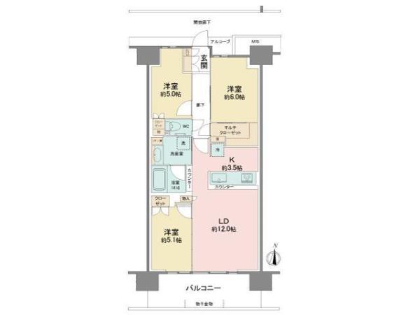 シーフォレスト神戸ルネ六甲アイランドCITYの間取図