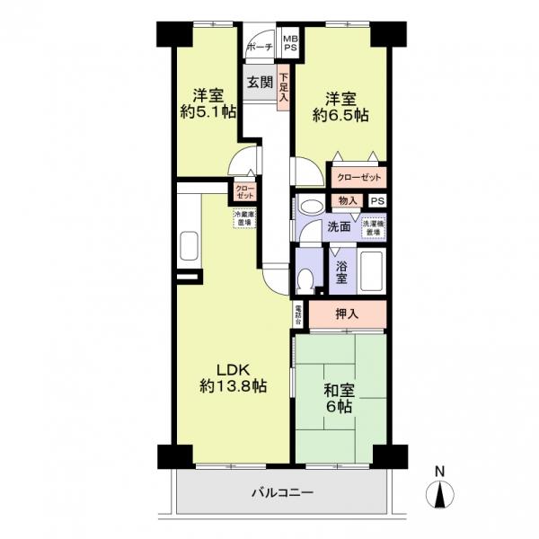須磨・名谷ハウスの間取図