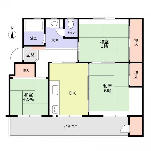 鍋屋上野住宅6号棟の間取図