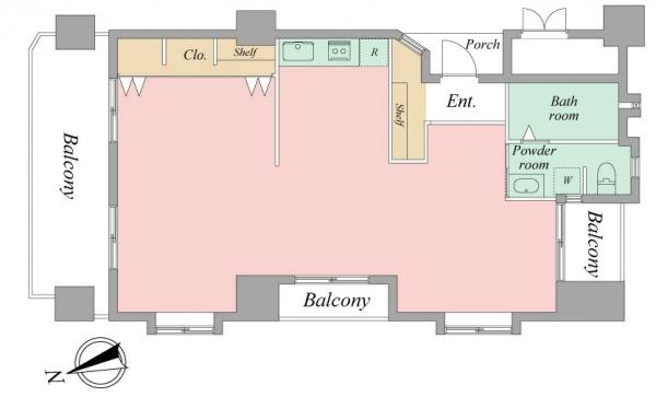 ロワールマンション大濠IIの間取図