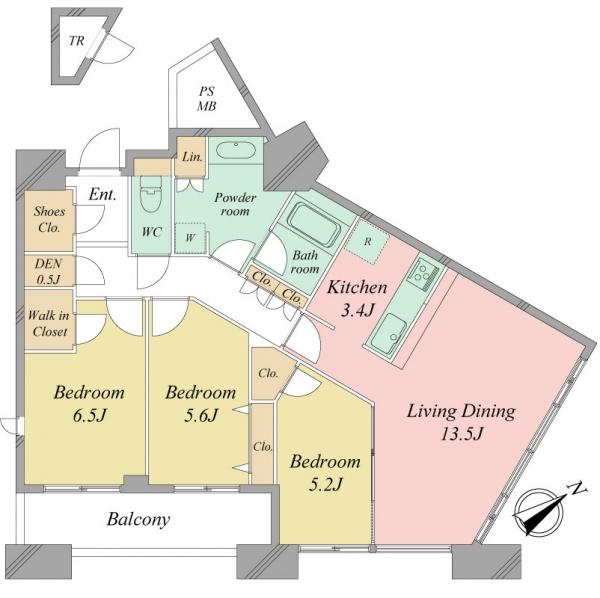 センターマークスタワーの間取図